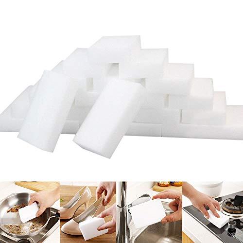 105 pièces magique Chiffon magique superbe de décontamination nano d'éponge Gomme de nettoyage pour éponge blanche Nettoyant mousse mélamine Tapis de cuisine 10x6x2cm LianMengMVP