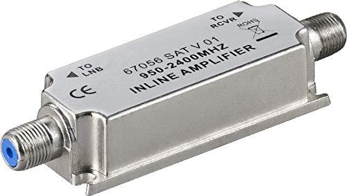 Wentronic 67056 - Amplificador de señal para Equipos por satélite (Acero Inoxidable)