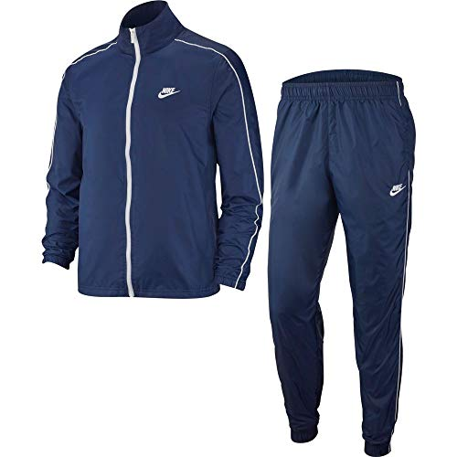 Nike Mens M NSW Ce TRK Suit WVN Basic Tracksuit, Midnight Navy/White/White, L