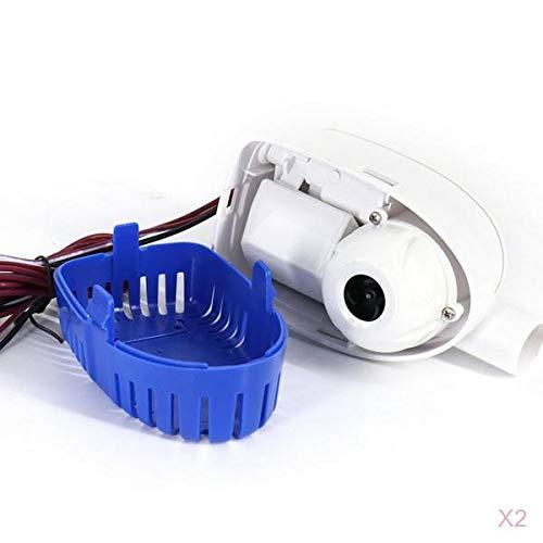 N/A/a 2X Interruptor de Flotador Automático de Bomba de Agua de Sentina Sumergible Automático 12V 1100GPH