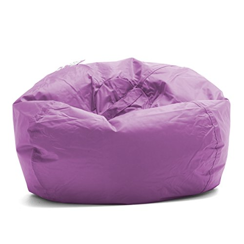 Big Joe Classic 98 Bean Bag Chair, 33'L x 33'W x 20'H, Radiant Orchid