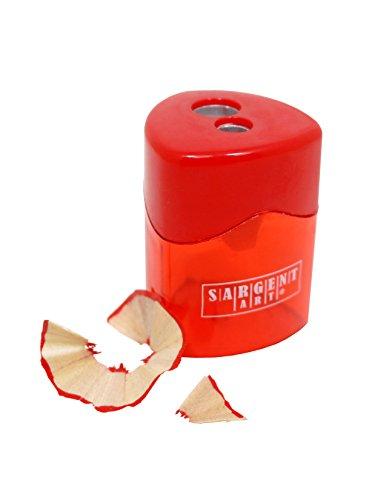 Sargent Art Two-Hole Sharpener, Red