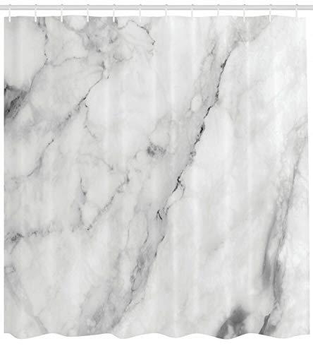 Dor675ser Duschvorhang, 183 x 200 cm, Marmor-Duschvorhang, Granit-Oberfläche, Motiv Druck für Badezimmer