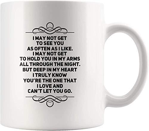 Potrei non vederti come spesso mi piace, ma ti amo regalo stimolante per la tazza di caffè di anniversario fidanzato fidanzato a lunga distanza 11 oz