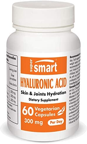 Supersmart Hyaluronic Acid 300 mg Per Day High Molecular Weight Sodium Hyaluronate 1 2 Million product image