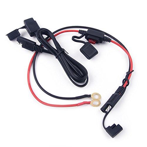 CITALL Motorrad Wasserdichtes SAE auf USB Kabel Adapter 10A Batterie Ladekabel Inline Sicherungskit