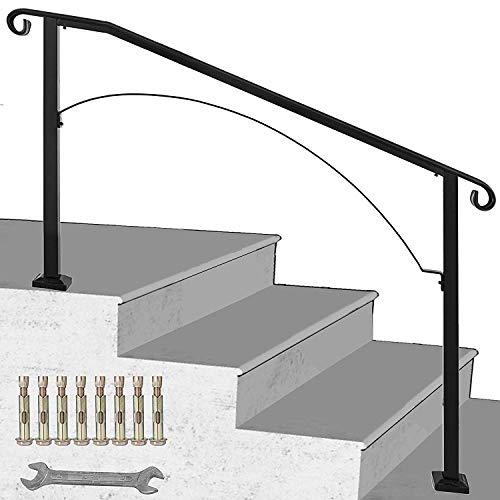BuoQua Pasamanos Negro Barandilla de Escalera Barandilla Escalera Pasamanos Escalera Pasamanos Barandilla Barandas para Interiores y Exteriores