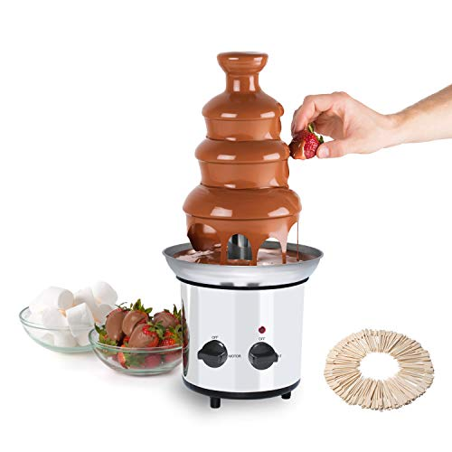Chocolate Fountain Machine for Kids, 4-Tiers 304 Stainless Steel Commerical...