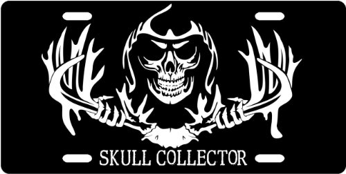 Skull Collector License Plate Novelty Tag from Redeye Laserworks