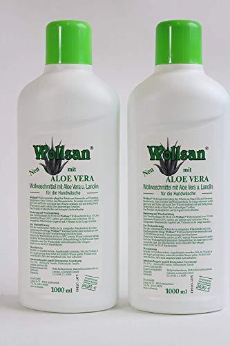 Waschmittel Wollsan mit Aloe Vera 2 Flaschen je 1 Liter