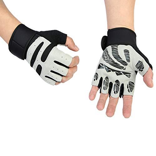 AsDlg Gewichthebende Handschuhe Atmungsaktive, fingerlose Gymnastikhandschuhe mit gepolsterten Trainingshandschuhen Rutschfeste Trainingshandschuhe mit Handgelenksunterstützung Voller Handballenschutz