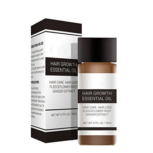 ARTIFUN Huile Essentielle de Pousse des Cheveux 20 ml Extrait de Gingembre Nourrissant Traitement Contre la Perte des Cheveux