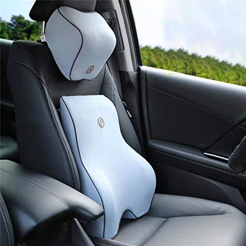 REWD Lumbar ondersteuning kussen Auto Seat ondersteunt nek en rug ondersteuning Lumbar ondersteuning verlichten Driver taille pijn zwarte bureaustoel grijs