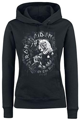 Iron Maiden Number of The Beast Mujer Sudadera con Capucha Negro S