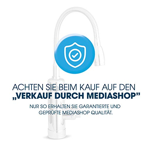 Mediashop Aquadon Smart Heater | Armatur mit integriertem Durchlauferhitzer | 2 Aufsätze | Digitale LED-Temperaturanzeige | Wasserhahn | Boiler | Das Original aus dem TV - 4