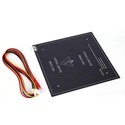 235x235mm Accesorios de placa de cama caliente de lecho de sustrato de aluminio para impresora 3D de 24V 220W