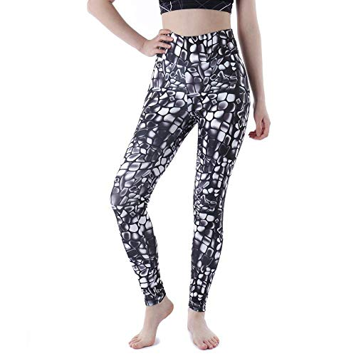 tiffan1990 Pantalones De Yoga Impresos De Moda Fitness De Cintura Alta Plus Leggings De Entrenamiento para Mujeres Gym Running Sport Legging Panits S Negro