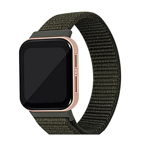 Vinciann cinturino in nylon compatibile con OPPO Watch 46mm sportivo traspirante chiusura a strappo VERDE MILITARE
