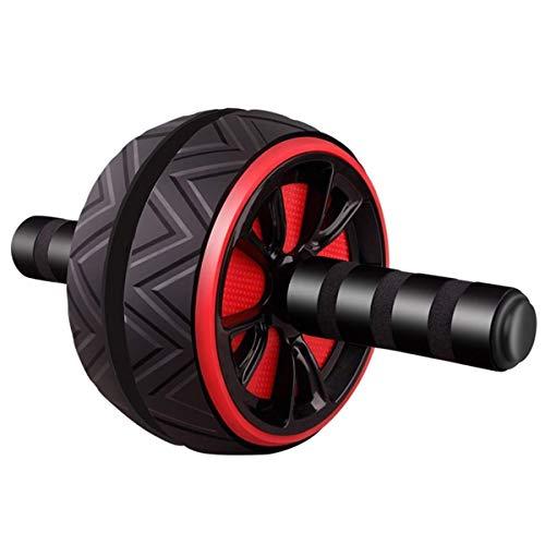 Bauch Roller Laufrad Arm Zurück Bauchmuskeltrainer Fitness Muten Roller geeignet for Fitness-Übung zu Hause oder im Fitnessstudio MEI (Color : Red)