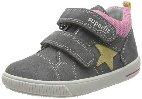 Superfit Jungen Mädchen Moppy Lauflernschuhe Sneaker, HELLGRAU/ROSA, 21 EU