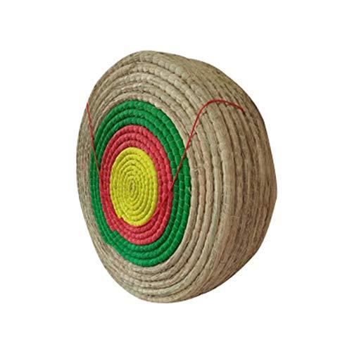 CHENSHJI Targina de Tiro con Arco Redondo Solid Paja Flechas Objetivo para la práctica de Tiro Objetivo de práctica para Principiantes (Color : Coloured, Size : 60x60x11cm)