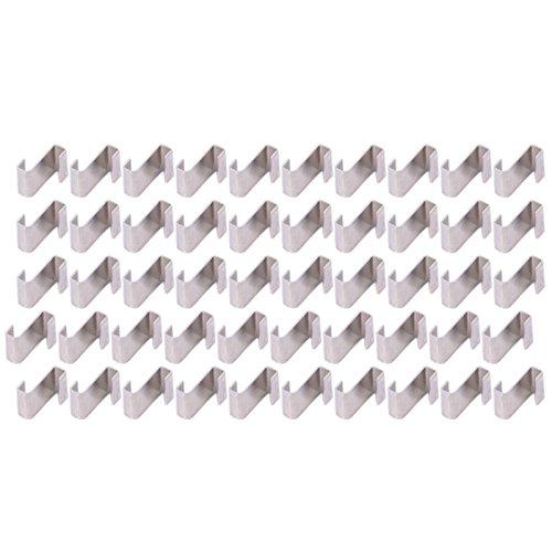 First4Spares Premium Aluminium Lay Clips/Z Clips für Glas Gewächshäuser–50Stück
