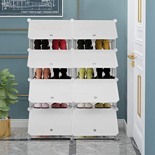 Yuanyan Zapatero simple, estante organizador extraíble, estantería modular para armario, estante multifunción, fácil de instalar, apto para sótano, dormitorio, baño, sala de estar (mediano)