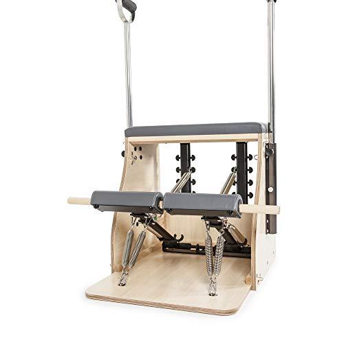 ELINA PILATES. Combo Chair Elite_Base Madera – La Silla de Pilates el complemento Ideal para los Estudios de Pilates. Incluye Sistema para Resistencia inversa. Material