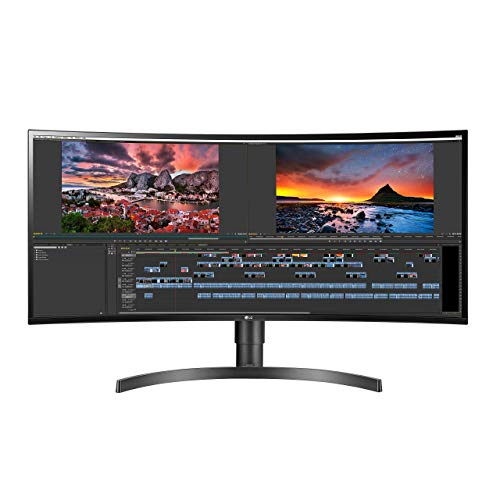 LG 34WN80C-B 34 inch 21:9 Curved UltraWide WQHD IPS Monitor with USB Type-C Connectivity sRGB 99% Color Gamut and HDR10 Compatibility, Black (2019) (Renewed)