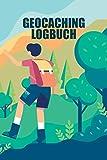 Geocaching Logbuch: Mini Notizbuch und Logbuch für Geocacher - Geocaching Zubehör und Ausrüstung Nano - Buch für 100 Eintragungen - Seiten Ausschneidbar - Geocach Log