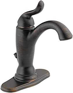 Delta Faucet Linden Single-Handle Bathroom Faucet with Diamond Seal Technology and Metal Drain Assembly, Venetian Bronze 594-RBMPU-DST