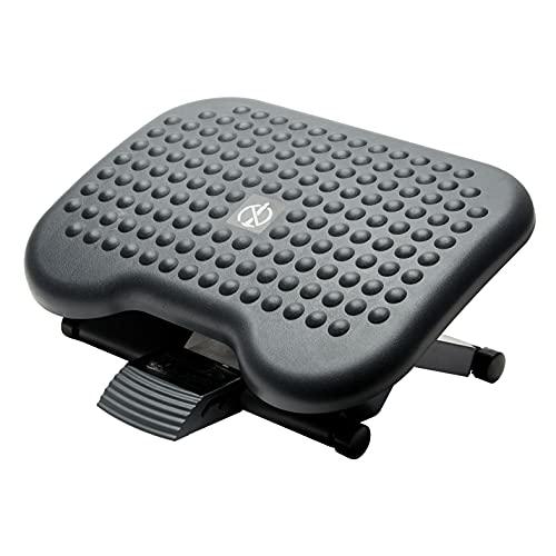 Fellowes Reposapiés Ergonómico para oficina Soporte para pies ajustable en altura e inclinación, antideslizante y con efecto masaje, Negro
