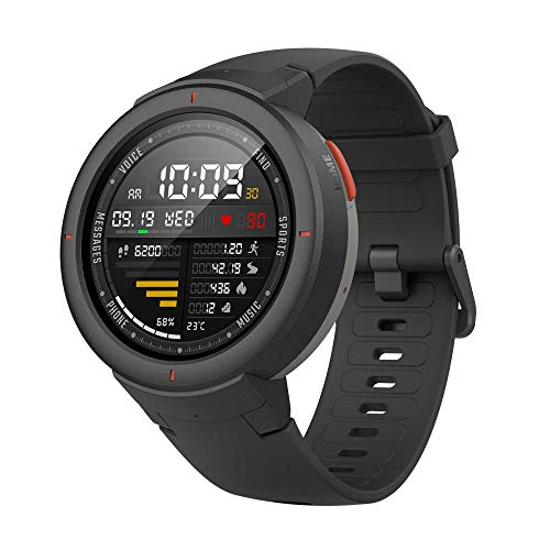 "Amazfit Verge Smartwatch,GPS Integrado,Rastreador de Actividad,RAM 512M,ROM 4GB,1.30"" AMOLED,Resolución 360x360,Negro"