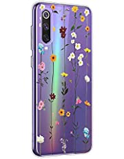Oihxse Mandala Flores Encaje Patrón Serie Case Compatible con Huawei Nova 5z Funda TPU Silicona Suave Protector Ultra Slim Anti-Rasguño Transparente Carcasa (A15)