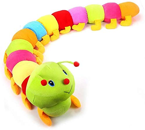 Okeyminy Lathe Accessories Cartoon Multicolor Soft Cotton Caterpillar Toy Doll Birthday Gift for Kids Children,Colorful SQNMKB (Color : Colorful)