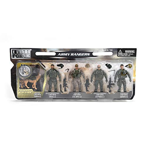 Sunny Days Entertainment Elite Force Army Rangers 5 Pack Figures Toy