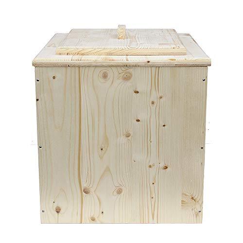 Toilette seche Bois, livré monté avec Seau - Fabrication Française