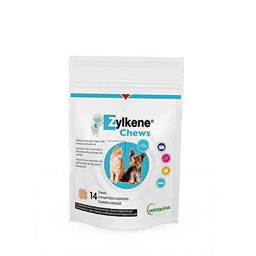 Vetoquinol - Zylkene 75 mg 14 Chews para perros y gatos, 1 unidad (1 x 0,03 kilogramos)