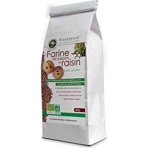 Farine de pépins de raisin biologique | 400g | Ecoidées