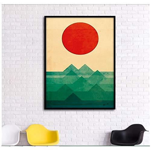 Abstracte grafische compositie Gunsan decoratieve schilderkunst modulaire schilderkunst muur canvas houten frame schilderij woonkamer