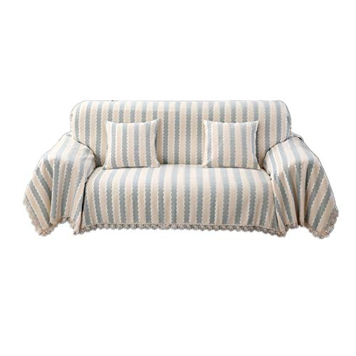 HAODEE Fundas de Sofa Resistente al Agua Cubresofa Sillón de la Cubierta Sofás Cubre Sofá Cubierta de Asiento Cubierta de sofá elástico Elástico sofá Cubre 180X240,Stripe