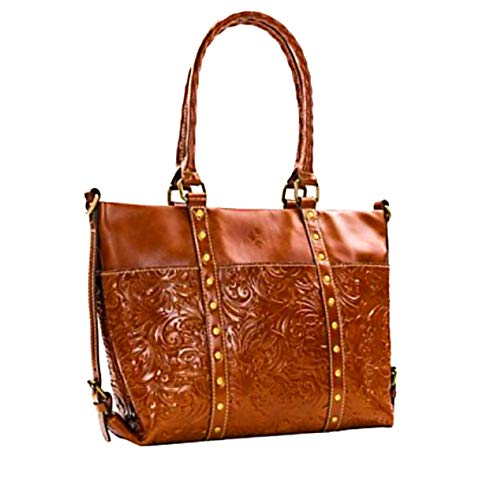 Patricia Nash Tooled Leather Talloria Shoulder Tote Florence