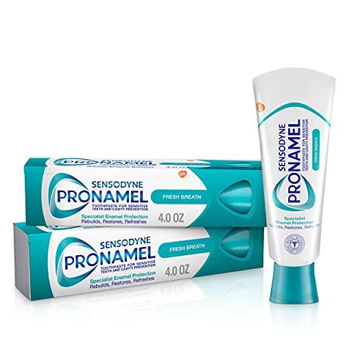 Sensodyne Pronamel Fresh Breath Enamel Toothpaste for Sensitive Teeth, to Reharden and Strengthen...