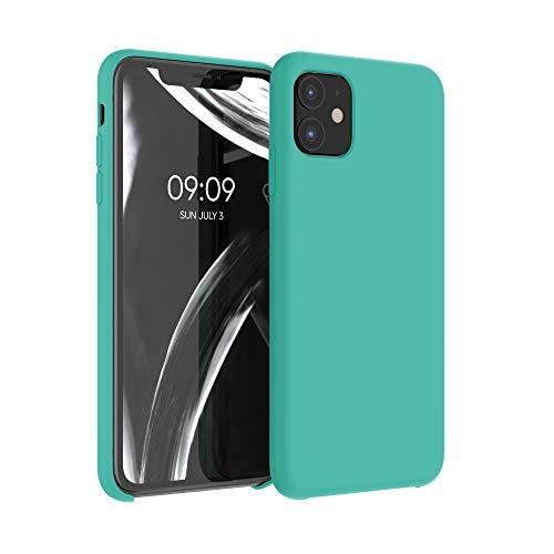 kwmobile Cover Compatibile con Apple iPhone 11 - Cover Custodia in Silicone TPU - Back Case Protezione Cellulare Turchese