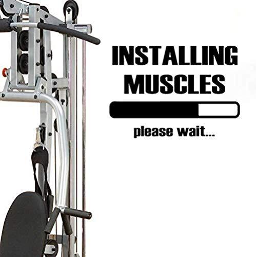 Adhesivo De Pared Fitness Gym Deportes Fitness Pvc 54 X 38 Cm