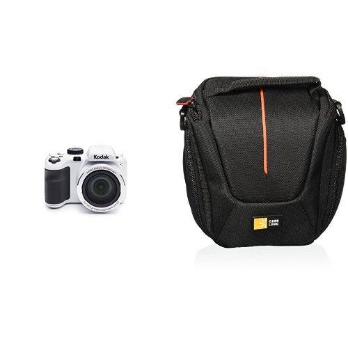 Kodak PIXPRO Astro Zoom AZ421 16 MP Digital Camera with Compact System/Hybrid Camera Case (White)