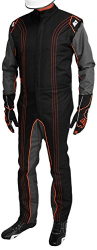 K1 Race Gear CIK/FIA Level 2 Approved Kart Racing Suit (Orange, XX-Large)