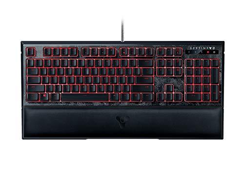 Razer Ornata Chroma Edition (Gaming Tastatur mit den Mecha-Membran Tasten, Halbhohen Tastenkappen, Chroma RGB Beleuchtung und Ergonomischen Design mit Handballenauflage) Destiny 2 (US-Layout)