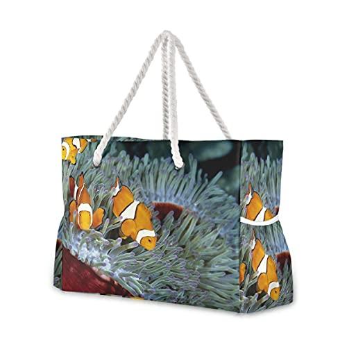 Bolsas de playa grandes Totes de lona Bolsa de hombro Seas-Fish-4000X2500-Wallpaper-971369 Bolsas...