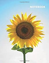 College Ruled Notebook: Sunflower family Professional Composition Book Daily Journal Notepad Diary for researching how to draw a sunflower